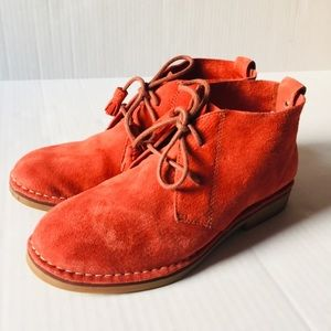 Hush Puppies Burnt Orange Suede Cyra Ankle Boots